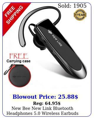 bee link bluetooth headphones wireless earbuds hands free headse