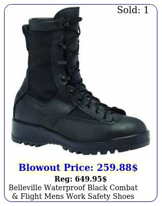 belleville waterproof black combat flight mens work safety shoes casual