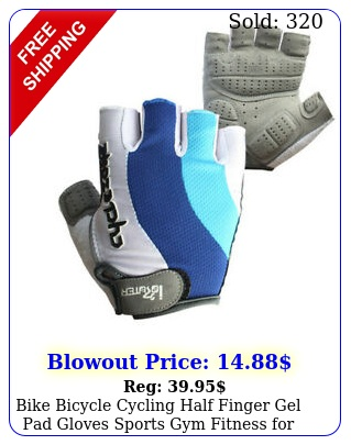 bike bicycle cycling half finger gel pad gloves sports gym fitness men wome