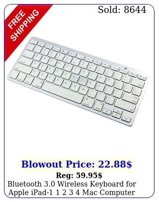 bluetooth wireless keyboard apple ipad   mac computer pc macboo