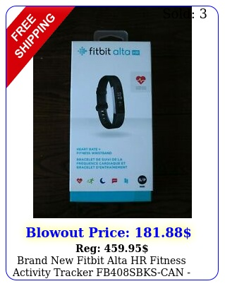 brand fitbit alta hr fitness activity tracker fbsbkscan black smal