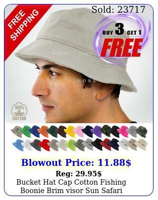 bucket hat cap cotton fishing boonie brim visor sun safari summer men campin