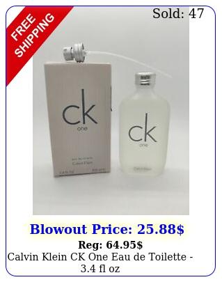 calvin klein ck one eau de toilette  fl o