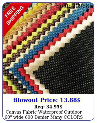 canvas fabric waterproof outdoor wide denier many colors by the yar