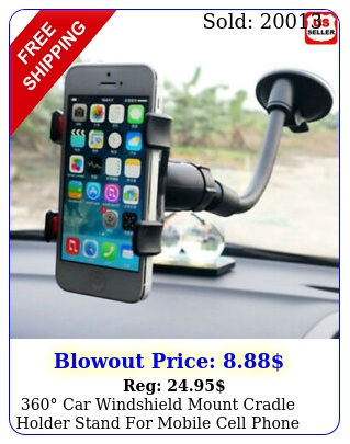 car windshield mount cradle holder stand mobile cell phone gps iphone