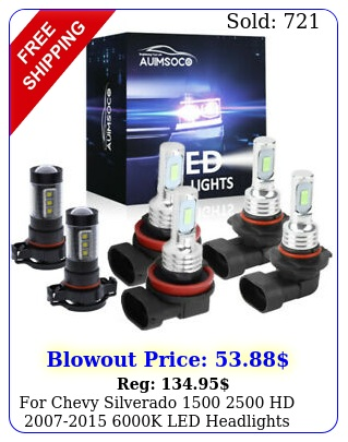chevy silverado  hd k led headlights fog bulbs kit