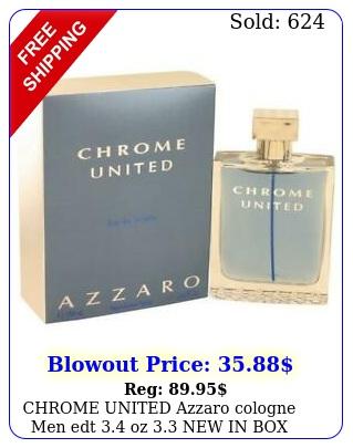 chrome united azzaro cologne men edt oz i
