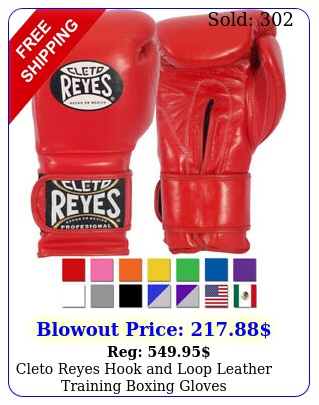 cleto reyes hook loop leather training boxing glove