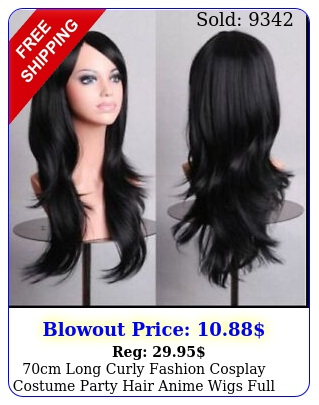 cm long curly fashion cosplay costume party hair anime wigs full hair wavy wi