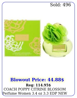 coach poppy citrine blossom perfume women oz edp i