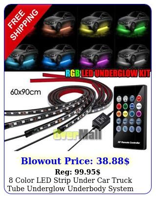 color led strip under car truck tube underglow underbody system neon light ki