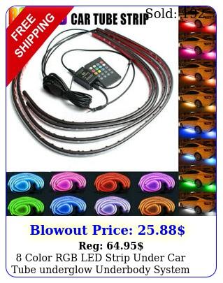 color rgb led strip under car tube underglow underbody system neon lights kit