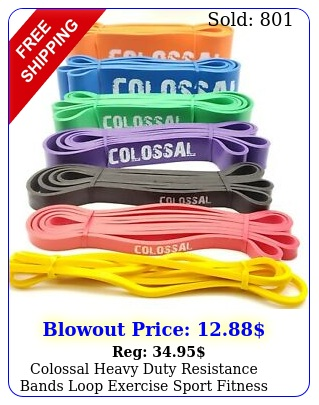colossal heavy duty resistance bands loop exercise sport fitness yoga gym late