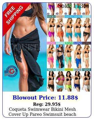 coqueta swimwear bikini mesh cover up pareo swimsuit beach sexy wrap hot saron