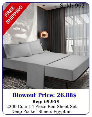 count piece bed sheet set deep pocket sheets egyptian comfort super sof