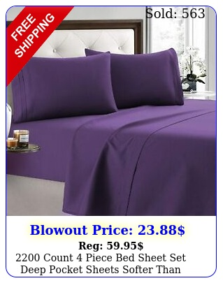 count piece bed sheet set deep pocket sheets softer than egyptian cotto