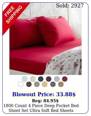 count piece deep pocket bed sheet set ultra soft bed sheet