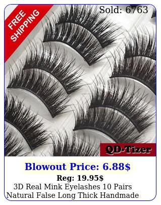 d real mink eyelashes pairs natural false long thick handmade lashes makeu
