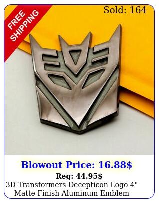 d transformers decepticon logo matte finish aluminum emblem badge decals ca