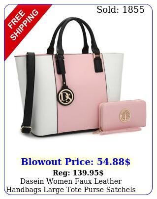 dasein women faux leather handbags large tote purse satchels shoulder bag