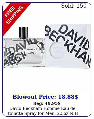 david beckham homme eau de toilette spray men oz ni