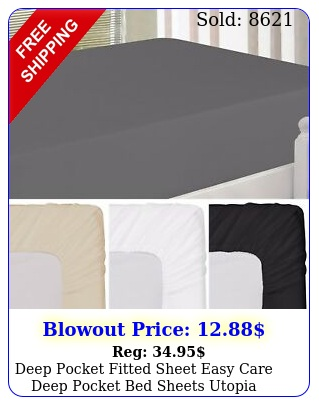 deep pocket fitted sheet easy care deep pocket bed sheets utopia beddin