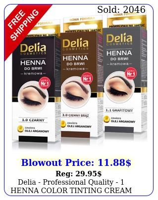 delia professional quality  henna color tinting cream kit eyebrow