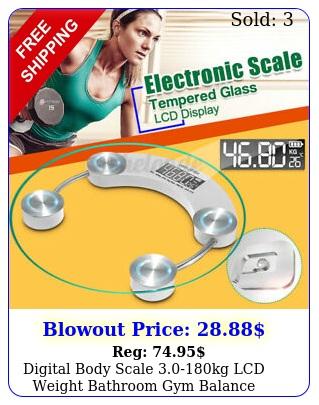 digital body scale kg lcd weight bathroom gym balance electronic