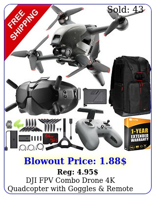 dji fpv combo drone k quadcopter with goggles remote control on the go bundl