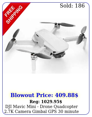 dji mavic mini drone quadcopter k camera gimbal gps minute flight tim