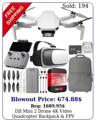 dji mini drone k video quadcopter  backpack fpv headset accessories bundl