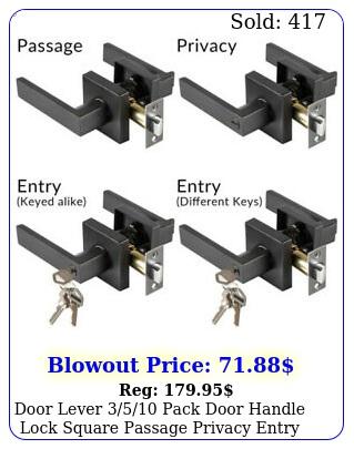 door lever pack door handle lock square passage privacy entry matte blac