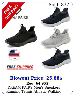 dream pairs men's sneakers running tennis athletic walking trainer casual shoe