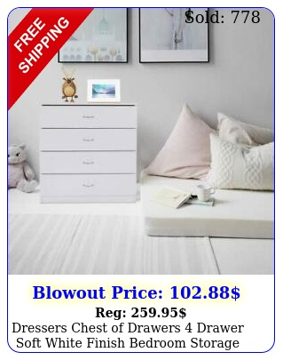 dressers chest of drawers drawer soft white finish bedroom storage furnitur