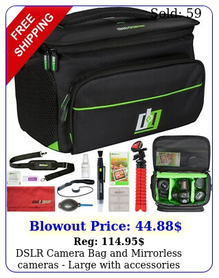 dslr camera bag mirrorless cameras  large with accessories deco gea