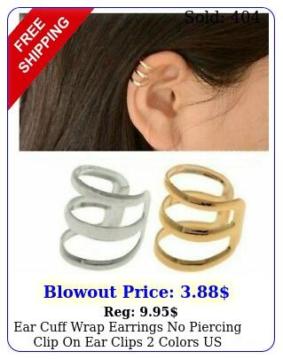 ear cuff wrap earrings no piercing clip on ear clips colors us selle