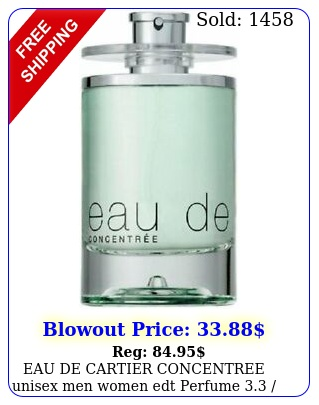 eau de cartier concentree unisex men women edt perfume  oz teste