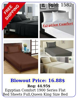 egyptian comfort series flat bed sheets fullqueen king size bed top shee