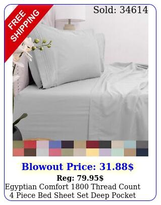 egyptian comfort thread count piece bed sheet set deep pocke
