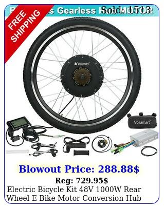 electric bicycle kit v w rear wheel e bike motor conversion hub lcd mete