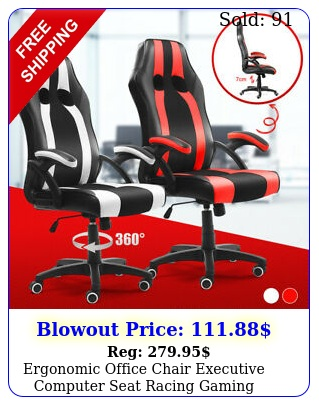 ergonomic office chair executive computer seat racing gaming swivel desk chair