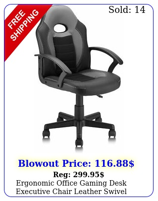 ergonomic office gaming desk executive chair leather swivel computer chai