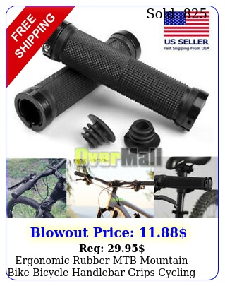 ergonomic rubber mtb mountain bike bicycle handlebar grips cycling lockon end