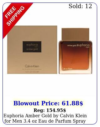 euphoria amber gold by calvin klein men oz eau de parfum spra