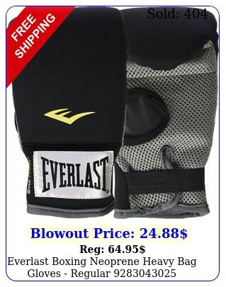 everlast boxing neoprene heavy bag gloves regula