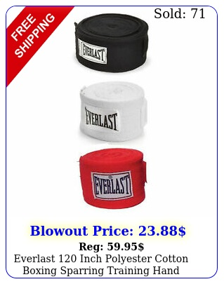 everlast inch polyester cotton boxing sparring training hand wraps pac