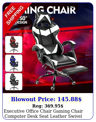 executive office chair gaming chair computer desk seat leather swivel task chai