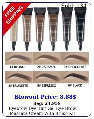 eyebrow dye tint gel eye brow mascara cream with brush kit waterproo