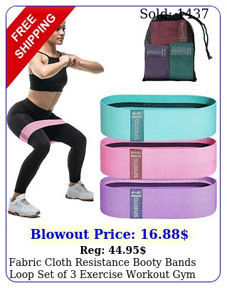 fabric cloth resistance booty bands loop set of exercise workout gym fitnes