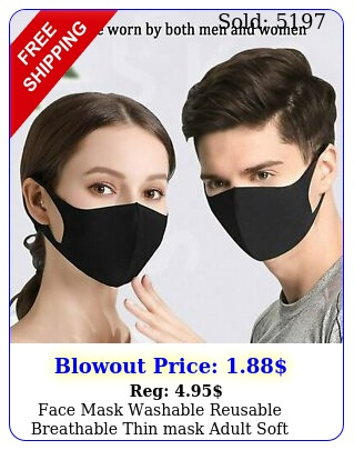 face mask washable reusable breathable thin mask adult soft stretch fabri